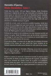 Mado Dondedieu T1 - 4ème de couverture - Format classique