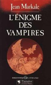 L'Enigme Des Vampires - Couverture - Format classique