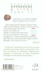 Apprendre A Vivre T.2 - 4ème de couverture - Format classique