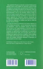 Convergences Musulmanes Aspects Contemporain De L'Islam Dans L'Europe Elargie - 4ème de couverture - Format classique