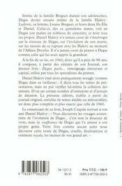 Degas parle - 4ème de couverture - Format classique