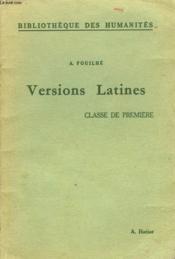 Versions Latines. Classe De Premiere - Couverture - Format classique