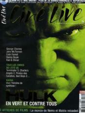 CINE LIVE - N° 69 - HULK, en vert et contre tous - Couverture - Format classique