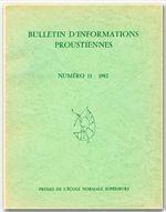 Bulletin D'Informations Proustiennes N.27 - Couverture - Format classique