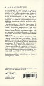 La Desoeuvre - 4ème de couverture - Format classique
