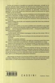 Géométrie vivante ou l'échelle de Jacob - 4ème de couverture - Format classique
