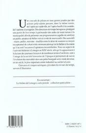Le Theatre Lyrique A Limoges, 1800-1914 - 4ème de couverture - Format classique