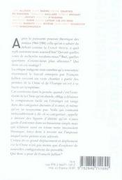 Oser construire pour François Jullien - 4ème de couverture - Format classique