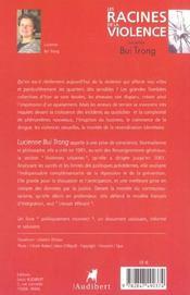 Racines De La Violence (Les) - 4ème de couverture - Format classique