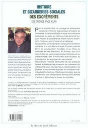 Histoire Et Bizareries Sociales Des Excrements Des Origines A Nos Jours - 4ème de couverture - Format classique