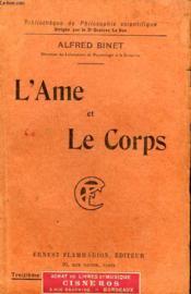 L'Ame Et Le Corps. Collection : Bibliotheque De Philosophie Scientifique. - Couverture - Format classique