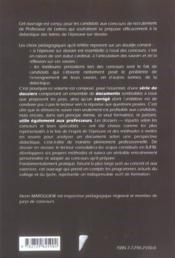 L'Epreuve Sur Dossier 18 Dossiers Traites Et Commentes Nouvelle Edition - 4ème de couverture - Format classique