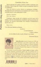 Cimetiere D'Eau Vive - 4ème de couverture - Format classique