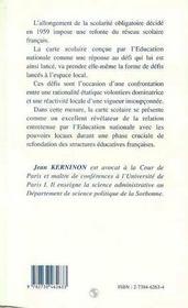 Education Nationale Et Espace Local : Les Defis De La Carte Scolaire - 4ème de couverture - Format classique