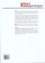 Cardiologie Modulo Pratique - 4ème de couverture - Format classique