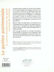Gestion Patrimoniale (La) - 4ème de couverture - Format classique