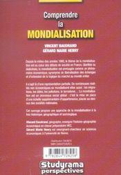 Comprendre La Mondialisation - 4ème de couverture - Format classique