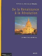 Histoire de l'architecture française t.2 ; de la Renaissance à la Révolution - Intérieur - Format classique