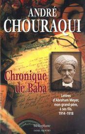 Chronique De Baba - Intérieur - Format classique