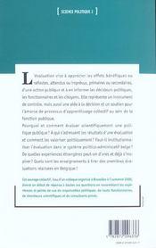 Evaluer Les Politiques Publics Regards Croises Sur La Belgiq - 4ème de couverture - Format classique