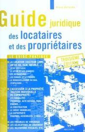 Guide Juridique Locataires Et Proprietaires ; 3e Edition - Intérieur - Format classique