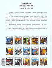 Histoire de Bretagne t.10 ; de l'origine à 2000 - 4ème de couverture - Format classique