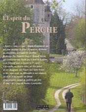 L'Esprit Du Perche - 4ème de couverture - Format classique
