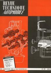 Revue Technique Automobile - N°219 - Couverture - Format classique