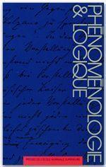 Phénoménologie & logique - Couverture - Format classique