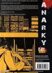 Anarky. 1. Riot - 4ème de couverture - Format classique