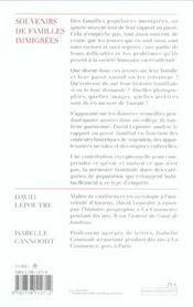 Souvenirs De Familles Immigrees - 4ème de couverture - Format classique