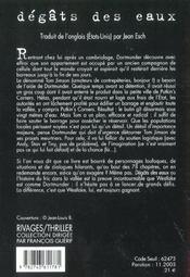 Degats Des Eaux - 4ème de couverture - Format classique