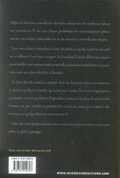 Faire l'amour a un homme (5e edition) - 4ème de couverture - Format classique