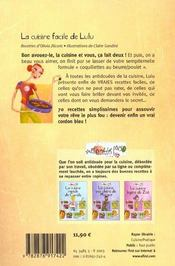 Recettes Perso : La Cuisine Facile De Lulu - 4ème de couverture - Format classique