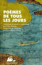 Poèmes de tous les jours - Couverture - Format classique