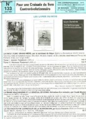 Pour Une Croisade Du Livre Contrerevolutionnaire - N°133 - Couverture - Format classique