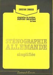 Stenographie Allemande Simplifiee C-1 - Intérieur - Format classique