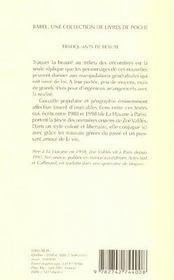 Trafiquants De Beaute Babel 594 - 4ème de couverture - Format classique