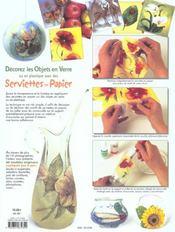 Decorez les objets en verre avec des serviettes en papier - 4ème de couverture - Format classique