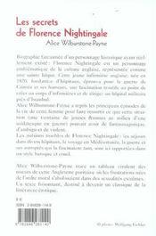 Les secrets de florence nightingale - 4ème de couverture - Format classique