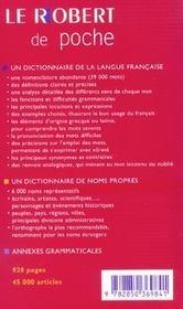 Le Robert de poche (édition 2004) (édition 2004) - 4ème de couverture - Format classique