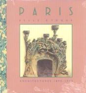 Paris Belle Epoque - Couverture - Format classique