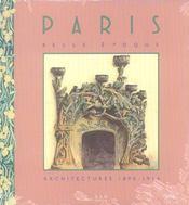 Paris Belle Epoque - Intérieur - Format classique