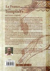La France des Templiers ; sites, histoire et légendes - 4ème de couverture - Format classique