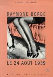 Le 24 Aout 1939 - Couverture - Format classique