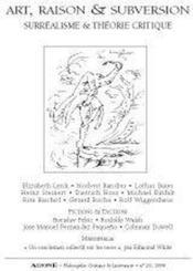 REVUE AGONE T.20 ; art, raison et subversion ; surréalisme & théorie critique - Couverture - Format classique