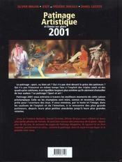 Patinage Artistique Et Danse Sur Glace ; Edition 2001 - 4ème de couverture - Format classique