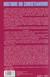 Histoire du christianisme t.1 ; le nouveau peuple (des origines à 250) - 4ème de couverture - Format classique