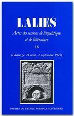 Revue Lalies N.16 - Couverture - Format classique