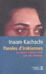 Paroles D'Irakiennes. Le Drame Irakien Écrit Par Des Femmes - Intérieur - Format classique
